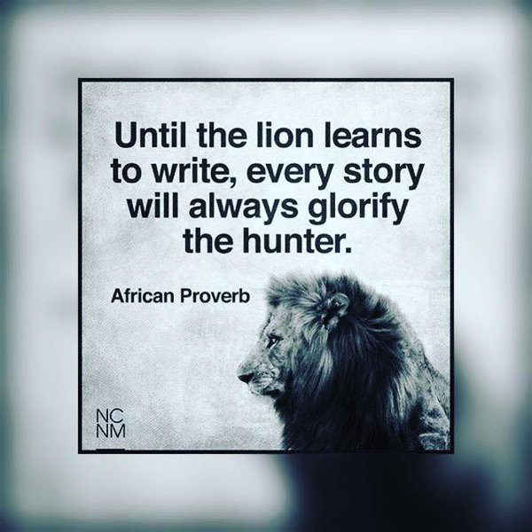 Be the lion.